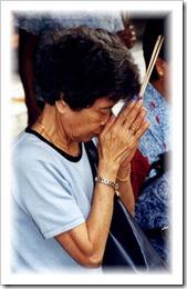 Riau Islands - Old Lady Worshipping